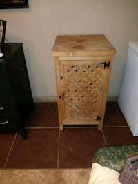 brown wooden 2-drawer nightstand Las Cruces