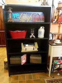 Industrial laminate bookcase $55 plus tax  Spring Hill, 37174