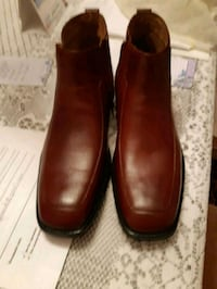Brown Leather Men's Winter Boots Size 10