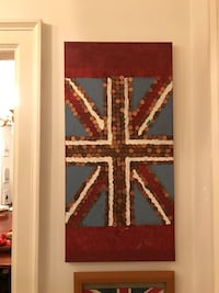 Beautiful handmade Union Jack with Canadian penny Vancouver, V6H 1S7