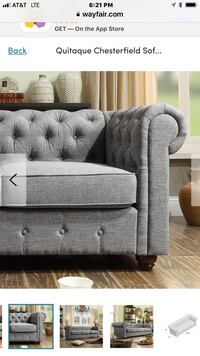 Gray fabric tufted sofa chair Rockville, 20852