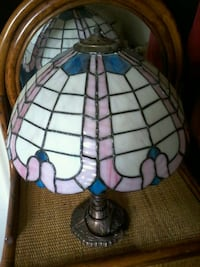 Stain glass lamp (crafted by local artisan).