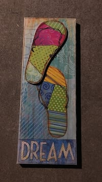 236.-DREAM slippers painting