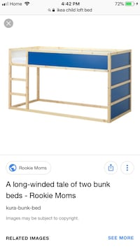 white and blue wooden changing table screenshot Toronto, M4C 4C6