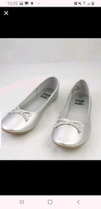Girls size 5 silver flats. New in box.  Martinsburg, 25401