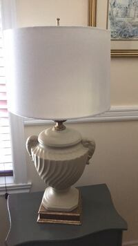 white ceramic base white shade table lamp Dollard-des-Ormeaux, H9A 3G9