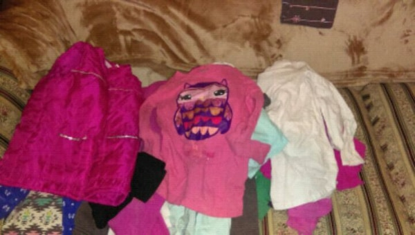 girl's assorted clothes from 4t - 6t.