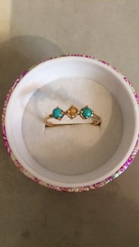 14k yellow gold turquoise and yellow gem stone ring New York, 11101