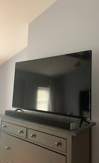 Television and sound bar