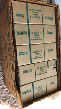 Box of Bostitch industrial Staples made out of galvanized steel wire Norfolk, 23523