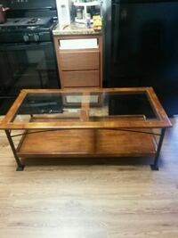brown wooden framed glass top table Lexington, 40509