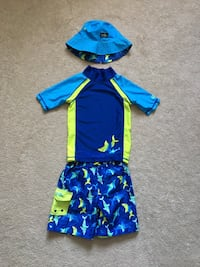 Boys Swim Suit size 5 with Hat Mississauga, L5W