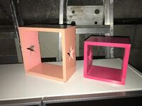 two white wooden photo frames Montreal