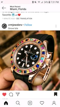 Rolex Rainbow Cluster Watch Secaucus, 07094
