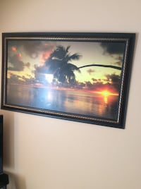 Tranquil Tropical Beach Sunset Painting