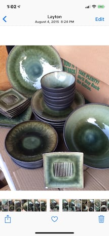 Gorgeous cat eye stoneware....