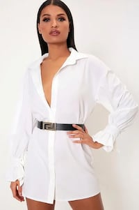 White Tie Sleeve Shirt Dress Tyne and Wear