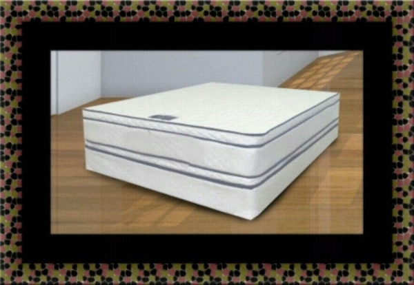 Queen mattress double pillow top with box spring