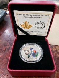 2014 $10 HARLEQUIN DUCK - PURE SILVER COIN