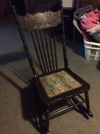 black metal framed brown wooden armchair Ancaster, L9G 4S6