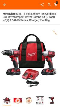 red and black Milwaukee cordless hand drill with charger Hayward, 94541