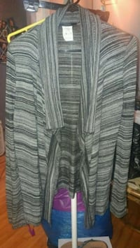 gray and black stripe cardigan Montreal, H8T