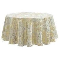 """Waterford 70x126"""" Oblong Table Cloth Gold Carmel"""