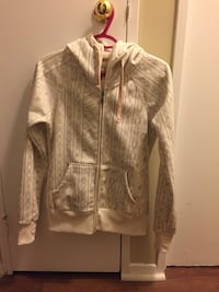 White and Grey Billabong Zip Up Sweater 542 km