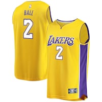 yellow and purple Nike Lebron James 23 jersey Los Angeles, 91352