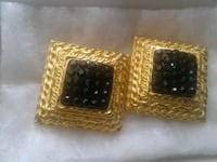 two gold-colored studs  earings 318 mi