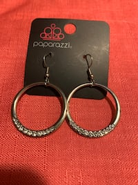 Silver circle dangle earrings  Gaithersburg, 20877