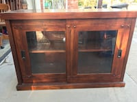 Brown wooden framed glass cabinet Monterey Park, 91754
