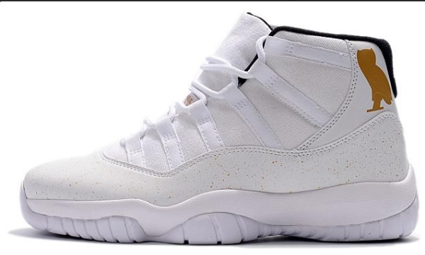 "5488276fcf57c5 2018 Cheap Air Jordan 11 OVO ""White Gold"" Shoes For Sale"