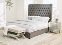 NEW Camille grey bed ( queen or king )  Miami