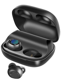 Wireless Earbuds, BassPal IPX7 Waterproof Bluetooth 5.0 Headphones, 60