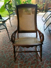 Lincoln Style Cane Back Rocking Chair  Metairie, 70005