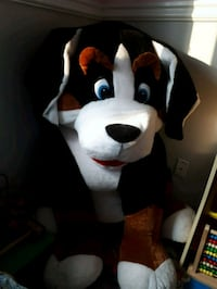 white and black dog plush huge size dog Cambridge, N3C 4G3