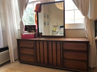 Mid century modern dresser with mirror Washington
