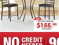 3 pc pub set (1Table 2 chairs) Temple Hills