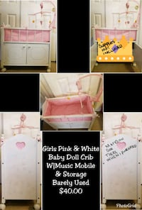 baby's white and pink bassinet Allentown, 18102