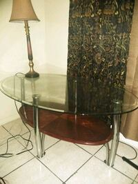round brown wooden side table Compton, 90221