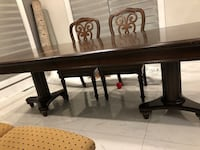 Rectangle brown solid wood table with 6 chairs 3144 km