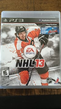 NHL 13 PS3 game case