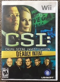 CSI: Deadly Intent Wii Game Vaughan, L6A 2W7