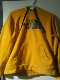 yellow and blueThe North Face pullover hoodie