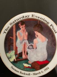 Norman Rockwell 1954 Saturday Evening Post Cover Commemorative Plate Fresno, 93710