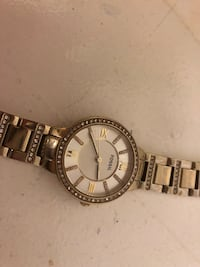 Gold and white stone Fossil watch East Ridge, 37412