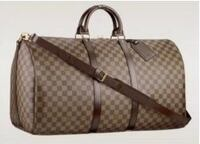 brown monogrammed Louis Vuitton leather tote bag Langley, V2Y 2C6
