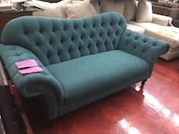 Weekly or Bi-weekly. Chester Humpfield Arch Back Pushpin Turquoise Sofa Hammond, 46323