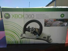 Xbox 360 gaming steering wheel box